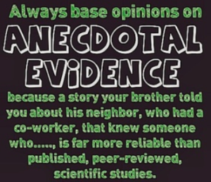 Logical Fallacy Series — Part 9: Anecdotal Fallacy